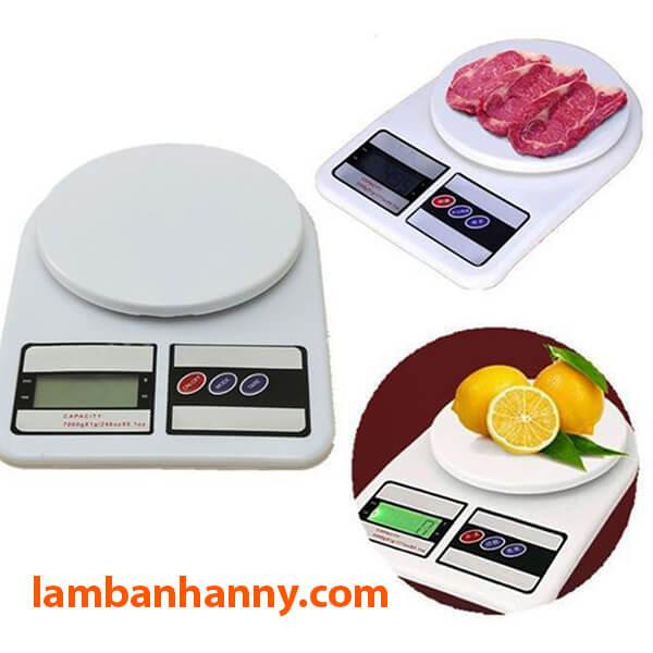 Được sử dụng để cân các loại thực phẩm trong nhà bếp