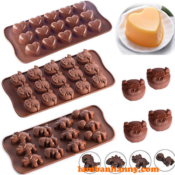 Đa dạng khuôn silicon socola khác nhau có tại Anny Shop
