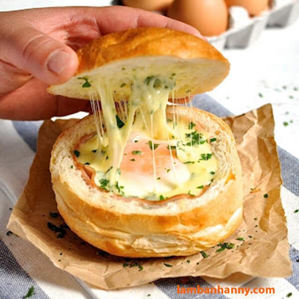 Bánh mì phô mai cho bữa sáng đầy chất dinh dưỡng