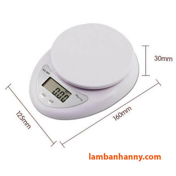 Kích thước của cân Kitchen Scale B05