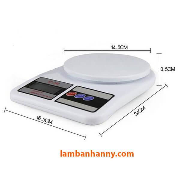 Kích thước của cân Kitchen Scale SF400