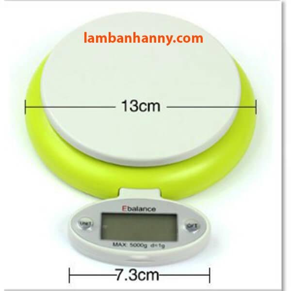 Kích thước với cân Kitchen Scale CH303