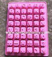 Khuôn bánh silicon bảng chữ cái và số