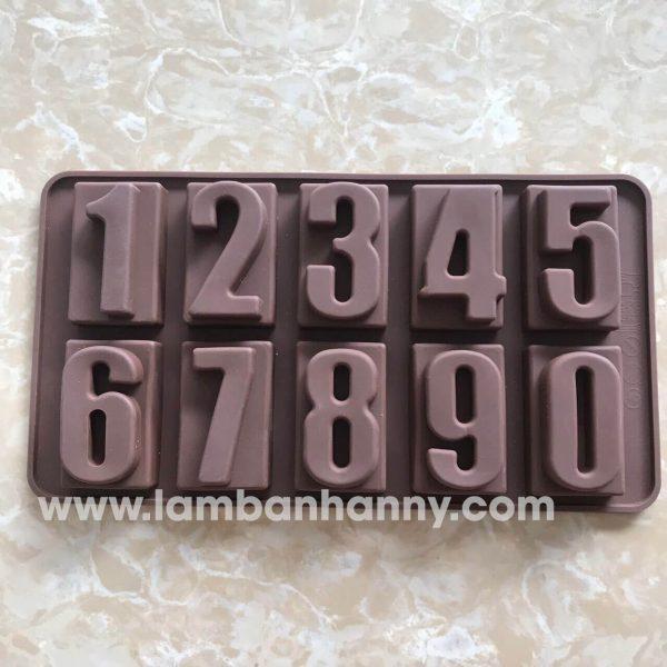 Khuôn bánh silicon chữ số to