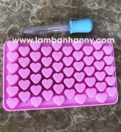 Khuôn bánh silicon hình tim mini 55 tim