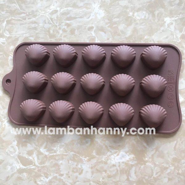 Khuôn bánh silicon hình vỏ sò
