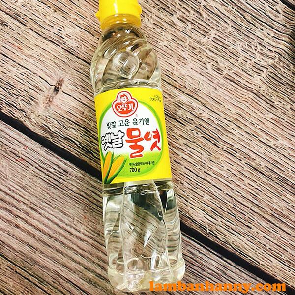 Siro bắp Hàn Quốc được đóng chai 700g tiện dụng