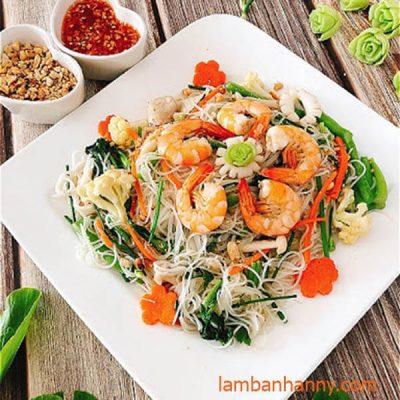 bún gạo xào hải sản