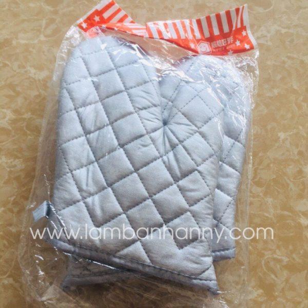 Găng tay lò nướng vải bạc
