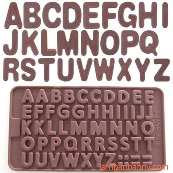 khuôn silicon bảng chữ cái và ký hiệu
