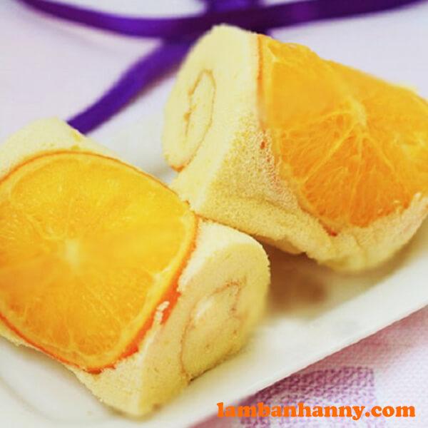 Bánh bông lan cam tươi