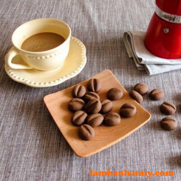 Bánh quy hình hạt cà phê