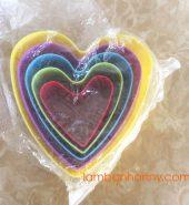 Khuôn nhấn bánh quy hình trái tim