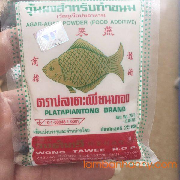 Bột rau câu hiệu con cá