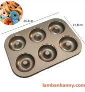 Khuôn làm bánh donut 6 bánh