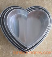 Khuôn nhôm trái tim đáy liền Size12-Size22