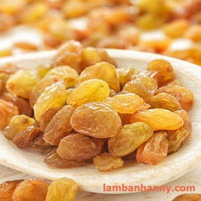 nho vàng khô trái tròn ấn độ 100g-500g-1kg