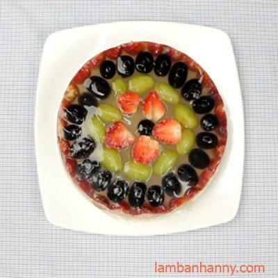 rau câu dừa trái cây