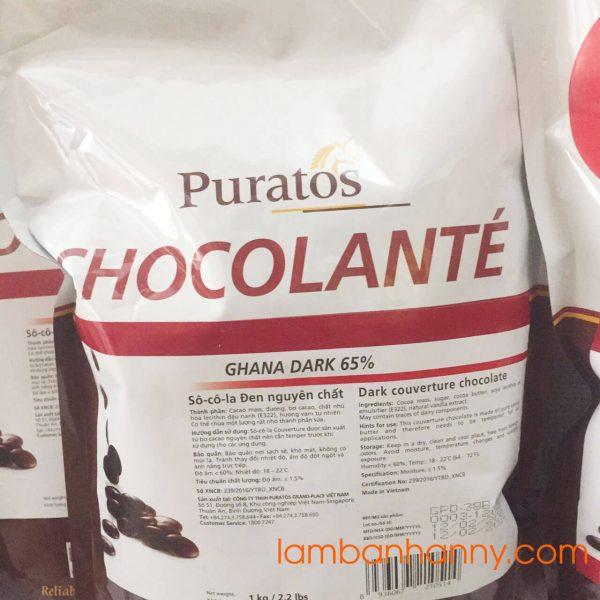 Socola đen nguyên chất paturos 65%