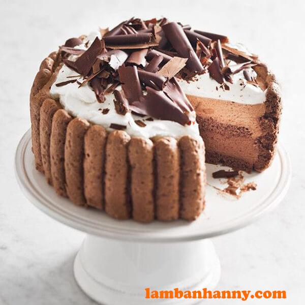 Bánh Charlotte socola ngọt ngào