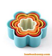 Bộ cutter nhựa hình bông hoa