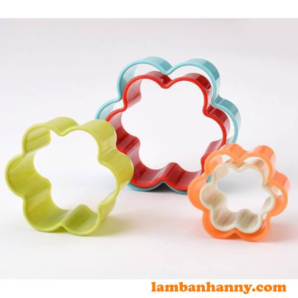 Bộ cutter nhựa hình bông hoa-3