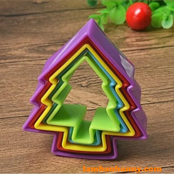 Bộ cutter nhựa hình cây thông - 1