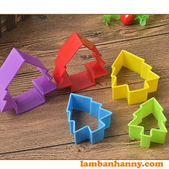 Bộ cutter nhựa hình cây thông - 2