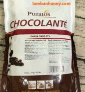 Socola đen nguyên chất puratos 65%