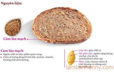 thành phần bột mì nguyên cám