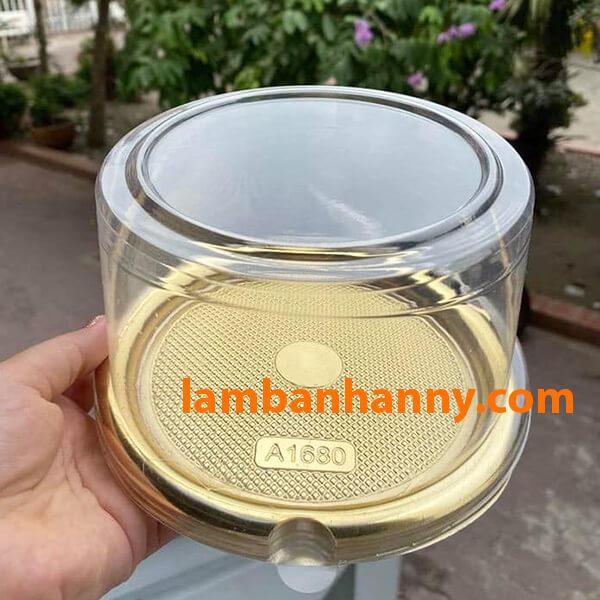 Hộp nhựa đế vàng A1680