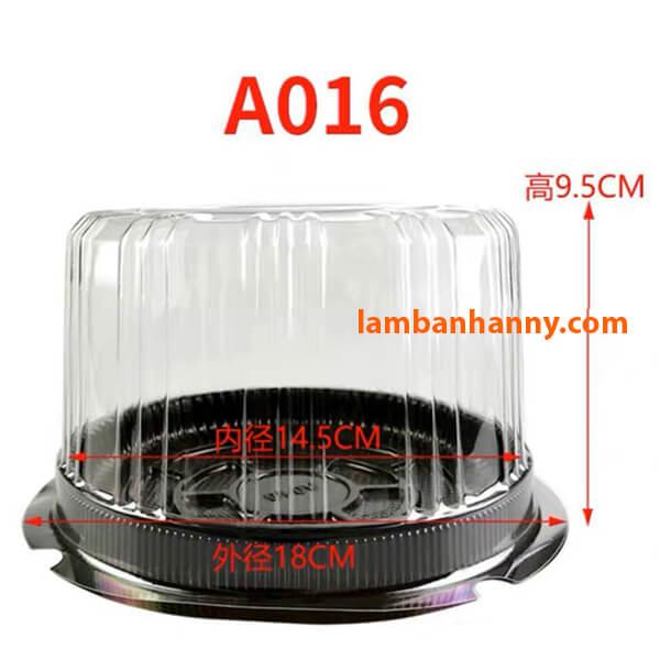 Kích thước A016 phù hợp với chiếc bánh size trung bình