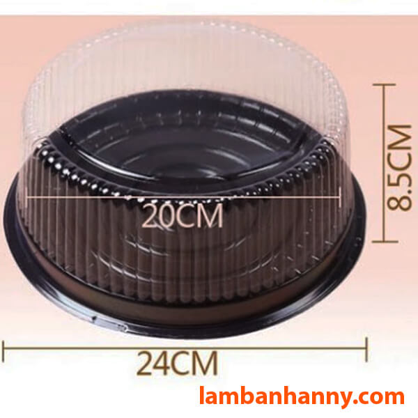 Kích thước hộp A024 phù hợp với chiếc bánh size trung bình-lớn