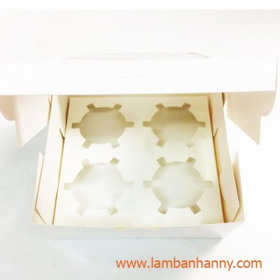 hộp đựng cupcake 4 ô