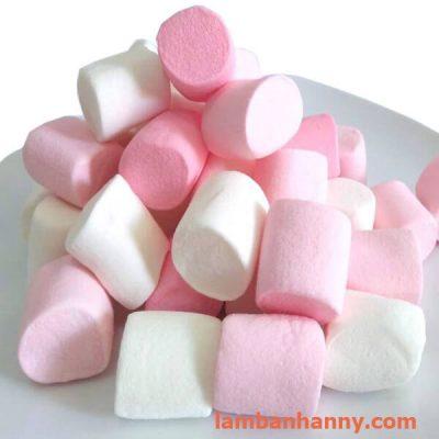 kẹo dẻo Marshmallow trắng-trắng hồng 120g
