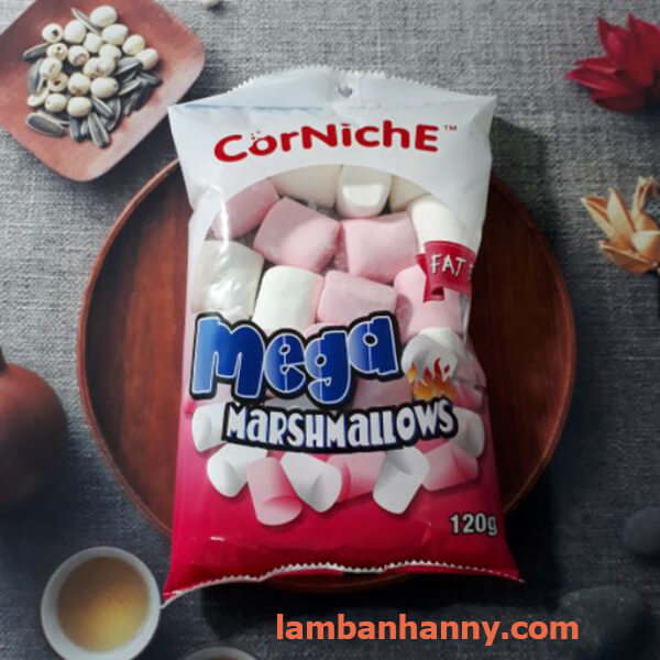kẹo dẻo marshmallow trắng-trắng hồng 120g 1