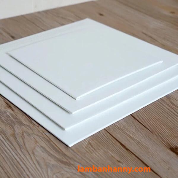 Đế lót bánh kem trắng hình vuông size 20-35cm
