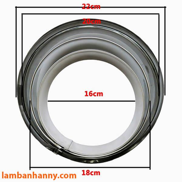 Đa dạng các kích cỡ với khuôn Ring làm bánh Mousse tròn