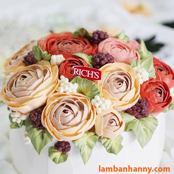 Bánh kem hoa trang trí Hàn Quốc