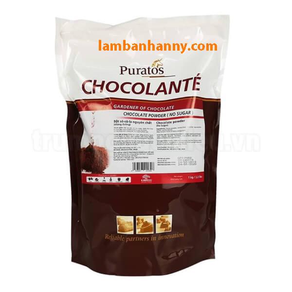 Bột socola nguyên chất Puratos túi zip 1kg