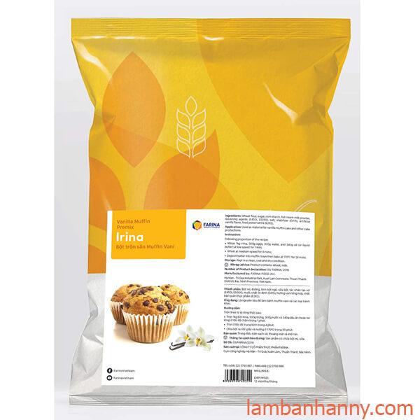 Bột trộn sẵn bánh Muffin Vani iRINA