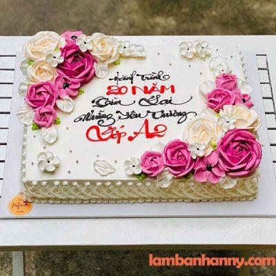 Bánh sinh nhật hình chữ nhật