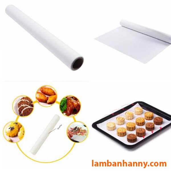 Giấy nến được sử dụng để lót khay nướng bánh và nướng các thực phẩm khác