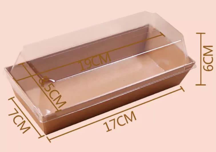 Kích thước của Hộp giấy chữ nhật Kraft nắp trong E1985