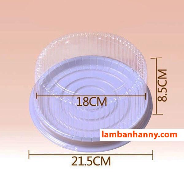 Kích thước của Hộp nhựa đế trắng A022
