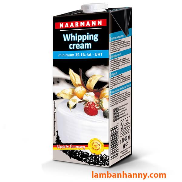 Kem tươi Whipping Cream Naarmann 1L