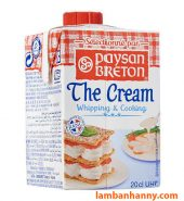 Kem tươi Whipping Cream Paysan Breton 200ml