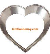 Khuôn Ring làm bánh Mousse trái tim Size 12-22cm