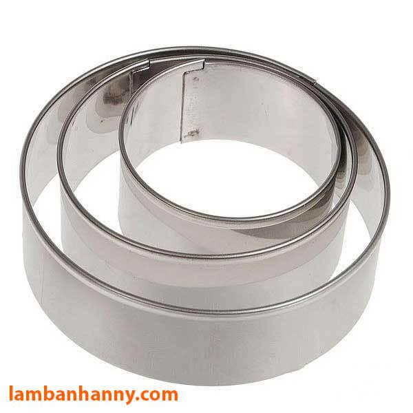 Khuôn Ring làm bánh Mousse tròn size 12-22cm