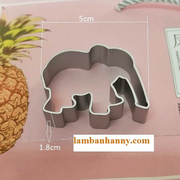 Khuôn cutter nhôm hình con voi-1